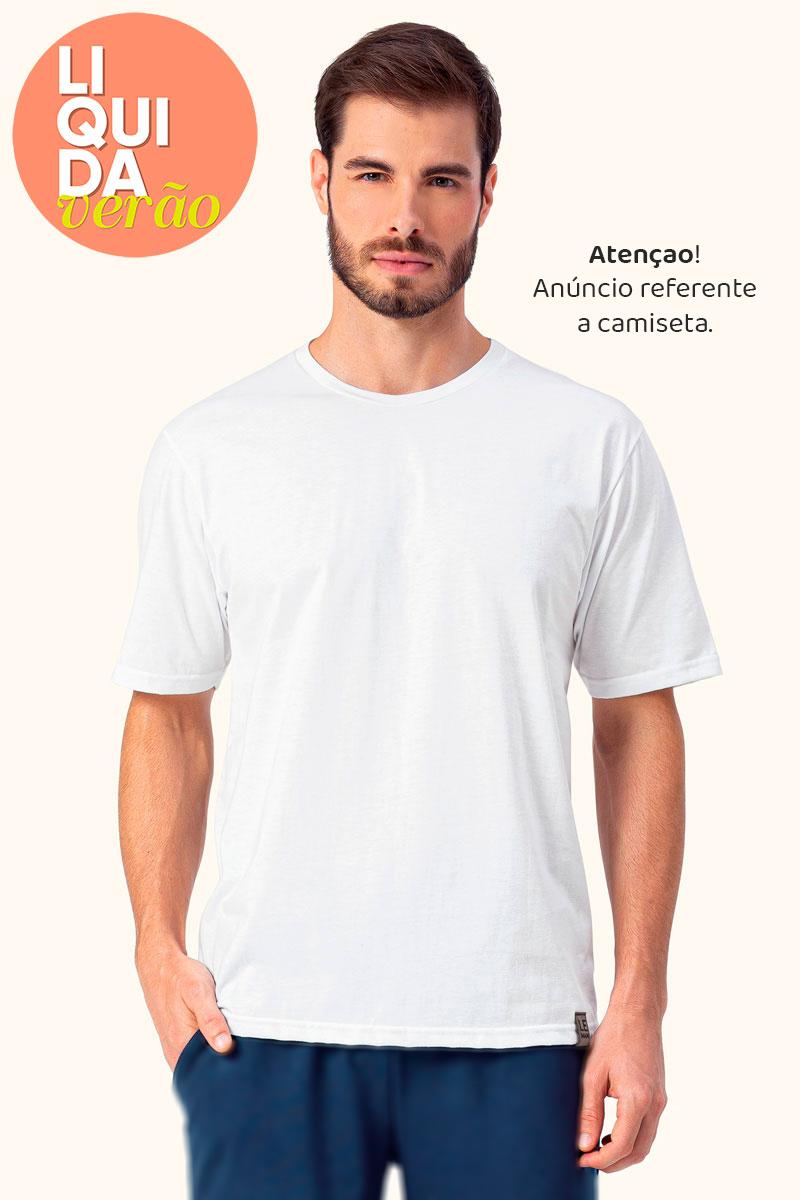 Blusa Manga Curta Branca
