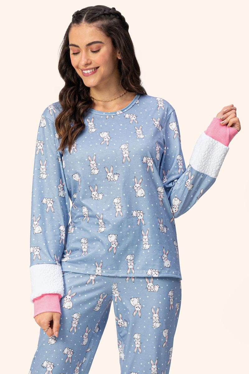 Pijama Manga Pelinhos