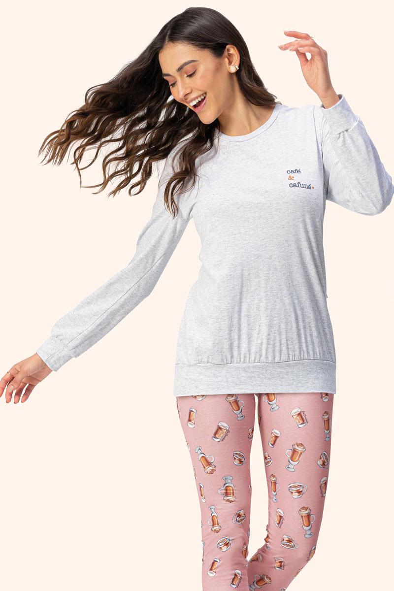 Pijama Manga Longa Legging
