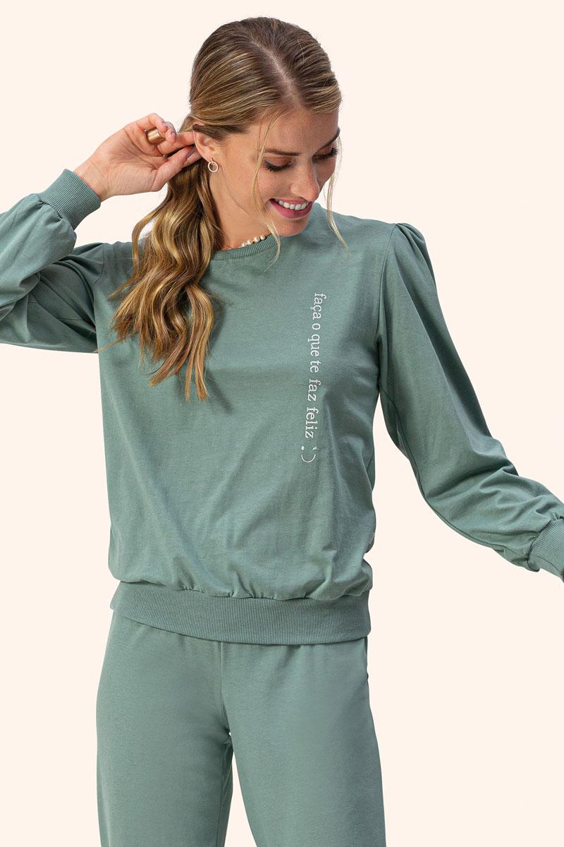 Pijama Manga Longa em Moletinho